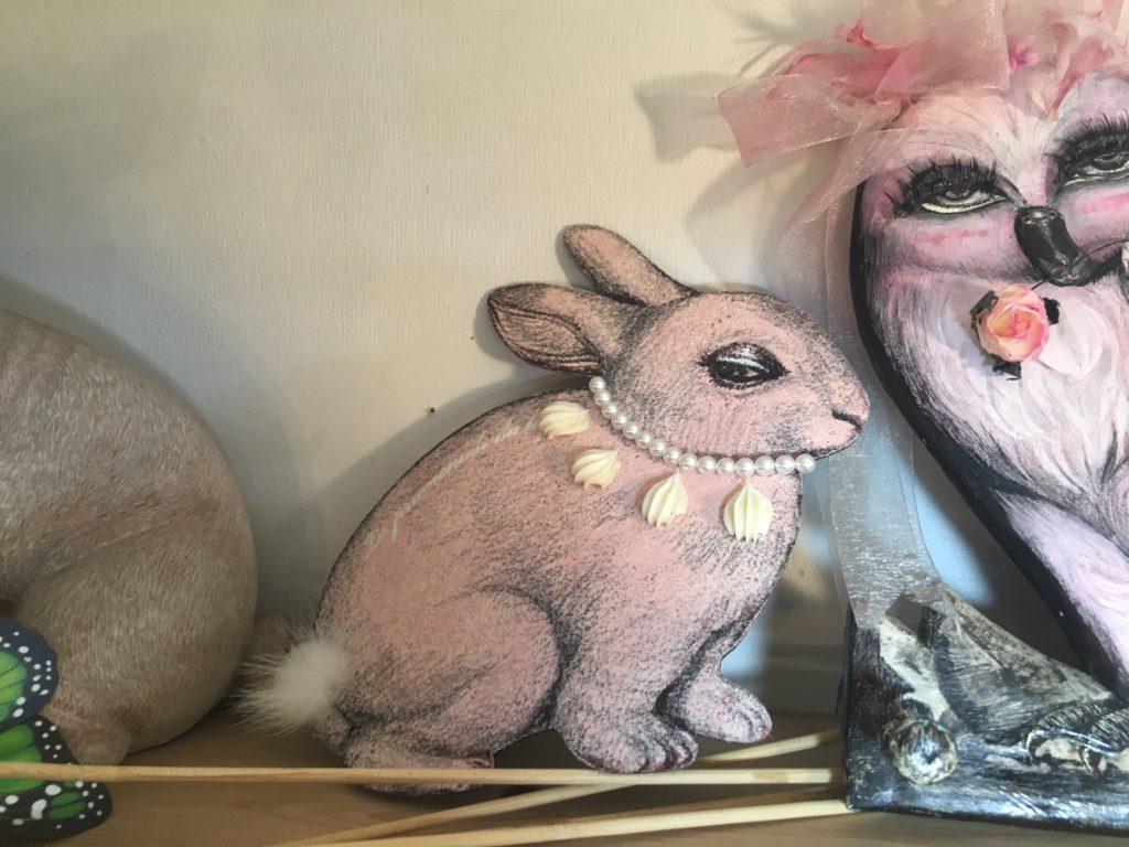 マウスパッドウサギ