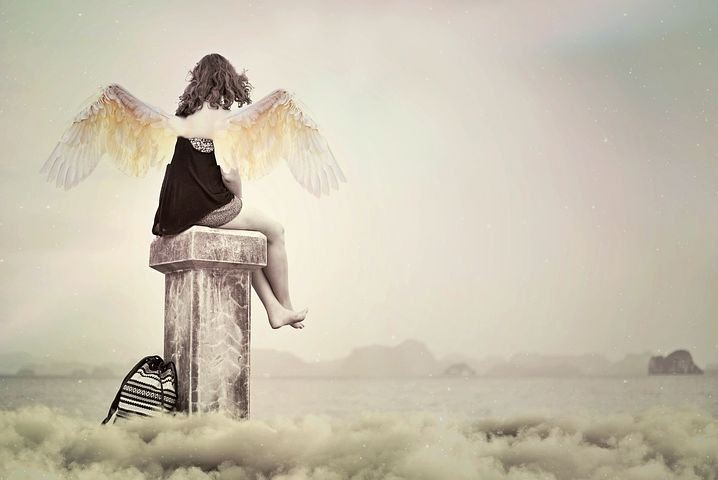 落ち込む天使