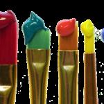油絵具、アクリル絵具、透明水彩、カラーインク、ニュー絵具?絵具比較!