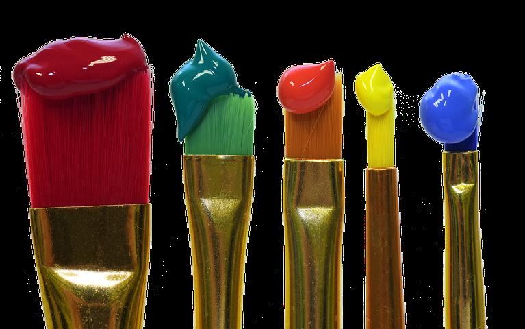 筆と絵の具